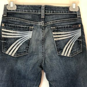7FAM 7 For All Mankind Crop Dojo Jeans Distressed